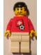 Minifig No: soc030s03  Name: Soccer Player - Swiss Player 3, Swiss Flag Torso Sticker on Front, Black Number Sticker on Back (specify number in listing)