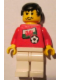 Minifig No: soc030s04  Name: Soccer Player - Welsh Player 3, Welsh Flag Torso Sticker on Front, Black Number Sticker on Back (specify number in listing)