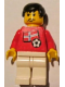 Minifig No: soc030s05  Name: Soccer Player - Norwegian Player 3, Norwegian Flag Torso Sticker on Front, Black Number Sticker on Back (specify number in listing)
