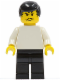 Minifig No: soc031  Name: Soccer Player White/Black Team Player 3