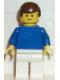 Minifig No: soc033  Name: Soccer Player Blue/White Team Player 4