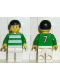 Minifig No: soc034  Name: Soccer Player Green & White Team  #7 on Back