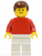 Minifig No: soc036  Name: Soccer Player Red/White Team Player 4