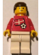 Minifig No: soc036s01  Name: Soccer Player - Danish Player 4, Danish Flag Torso Sticker on Front, Black Number Sticker on Back (specify number in listing)