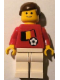 Minifig No: soc036s02  Name: Soccer Player - Belgian Player 4, Belgian Flag Torso Sticker on Front, Black Number Sticker on Back (specify number in listing)