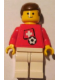 Minifig No: soc036s03  Name: Soccer Player - Swiss Player 4, Swiss Flag Torso Sticker on Front, Black Number Sticker on Back (specify number in listing)