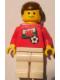 Minifig No: soc036s04  Name: Soccer Player - Welsh Player 4, Welsh Flag Torso Sticker on Front, Black Number Sticker on Back (specify number in listing)