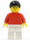 Minifig No: soc040  Name: Soccer Player Red/White Team Player 5