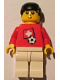 Minifig No: soc040s03  Name: Soccer Player - Swiss Player 5, Swiss Flag Torso Sticker on Front, Black Number Sticker on Back (specify number in listing)