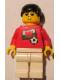 Minifig No: soc040s04  Name: Soccer Player - Welsh Player 5, Welsh Flag Torso Sticker on Front, Black Number Sticker on Back (specify number in listing)
