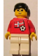 Minifig No: soc040s05  Name: Soccer Player - Norwegian Player 5, Norwegian Flag Torso Sticker on Front, Black Number Sticker on Back (specify number in listing)