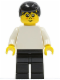 Minifig No: soc041  Name: Soccer Player White/Black Team Player 5