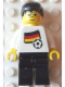 Minifig No: soc041s01  Name: Soccer Player - German Player 5, German Flag Torso Sticker on Front, Black Number Sticker on Back (specify number in listing)