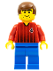 Minifig No: soc062  Name: Soccer Player Red/Blue Team with shirt  #4