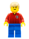Minifig No: soc067  Name: Soccer Player Red/Blue Team with shirt #10