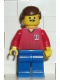 Minifig No: soc068  Name: Soccer Player Red/Blue Team with shirt #11