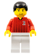 Minifig No: soc086  Name: Soccer Player Red/White Team with shirt  #2