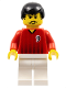 Minifig No: soc088  Name: Soccer Player Red/White Team with shirt  #9