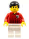 Minifig No: soc091  Name: Soccer Player Red/White Team with shirt #18