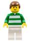 Minifig No: soc092  Name: Soccer Player Green & White Team #10 on Back