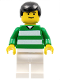 Minifig No: soc093  Name: Soccer Player Green & White Team #11 on Back