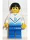 Minifig No: soc094  Name: Soccer Player White & Blue Team with shirt #18