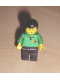 Minifig No: soc113s  Name: Soccer Referee Green - Black Legs, Yellow & Red Cards Torso Sticker (Shell)