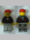 Minifig No: soc116s  Name: Soccer Goalie Black - Adidas Logo, White and Red Torso Stickers (#1)