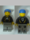 Minifig No: soc117s  Name: Soccer Goalie Black - Adidas Logo, White and Yellow Torso Stickers (#1)