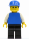 Minifig No: soc128  Name: Plain Blue Torso with White Arms, Black Legs, Blue Cap (Soccer Goalie)