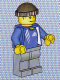 Minifig No: soc129s  Name: Soccer Player - Adidas Logo Blue Torso Stickers (#6)
