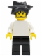 Minifig No: soc132  Name: Plain White Torso with White Arms, Black Legs, Black Hair Angular Swept Sideways (Adidas Super Goalie)