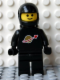 Minifig No: sp003new  Name: Classic Space - Black with Airtanks and Motorcycle (Standard) Helmet (Reissue)