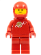 Minifig No: sp005new  Name: Classic Space - Red with Airtanks and Motorcycle (Standard) Helmet (Reissue)