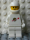 Minifig No: sp006new  Name: Classic Space - White with Airtanks and Motorcycle (Standard) Helmet (Reissue)