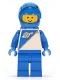Minifig No: sp014  Name: Futuron - Blue