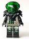 Minifig No: sp028  Name: Insectoids - green circuitry w/hose on sides, printed legs, Black Armor