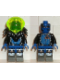 Minifig No: sp029  Name: Insectoids - blue circuits, white lighting bolts, printed legs, Black Armor