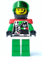 Minifig No: sp038  Name: Space Police 2 Chief (Captain Magenta)