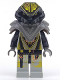 Minifig No: sp045  Name: UFO Zotaxian Alien - Gray Overlord (Alpha Draconis)