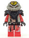 Minifig No: sp046  Name: UFO Zotaxian Alien - Red Pilot with Armor and Printed Helmet (Chamon)