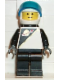 Minifig No: sp050  Name: Futuron - Black with White Helmet