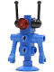 Minifig No: sp074  Name: Classic Space Droid - Dish Base, Blue with Trans-Red Eyes and Black Antennae