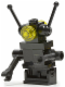 Minifig No: sp075new  Name: Classic Space Droid - Hinge Base, Black with Trans-Yellow Eyes (Bar through Torso)