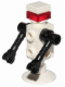 Minifig No: sp125  Name: Futuron Droid, White with Black Arms, Trans Red Eye