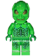 Minifig No: spd006  Name: Green Goblin 2, Gold Eyes