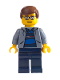 Minifig No: spd007  Name: Peter Parker 2 - Sand Blue Jacket, Dark Blue Legs, Brown Male Hair