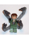 Minifig No: spd015  Name: Dr. Octopus / Doc Ock, Sand Green Jacket, Sand Green Legs, Thin Toothy Smile - With Arms