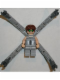 Minifig No: spd016  Name: Dr. Octopus (Otto Octavius) / Doc Ock, Light Bluish Gray Torso, Light Bluish Gray Legs - With Arms