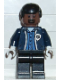 Minifig No: spd023  Name: Ambulance Driver, Dark Blue Torso with EMT Star of Life Logo, Black Legs, Black Male Hair